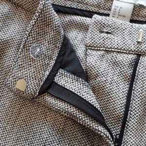 H&M Herringbone Pattern Slacks/Pants Women Size 8